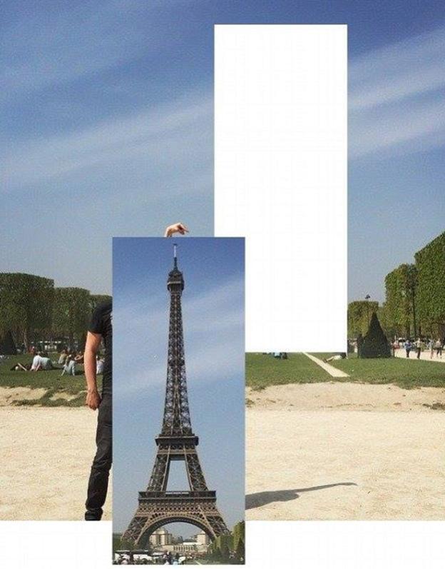 eiffel tower finger photoshop cut paste