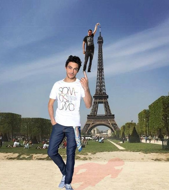eiffel tower finger photoshop help