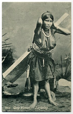 Post Card of a Coolie Woman - Darjeeling